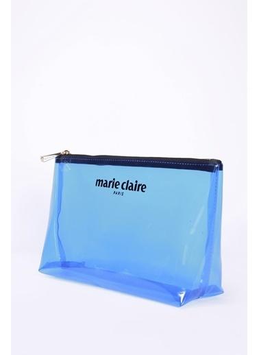 Marie Claire Makyaj Çantası Mavi